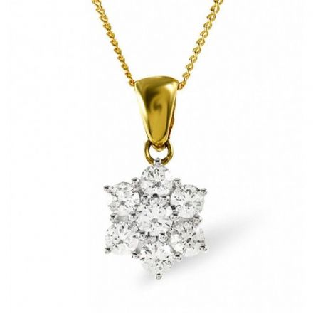 18K Gold 0.25ct H/si Diamond Pendant, DP05-25HSY